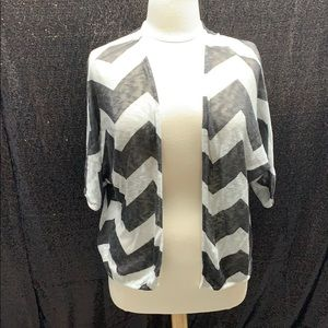 Grey and white stripped cardigan